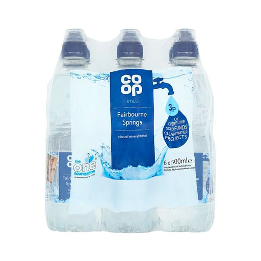 Co-op Still Water Sports Cap 500ml x 6