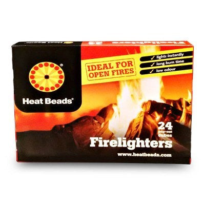 Heat Beads Barbecue Firelighters 24-Pack