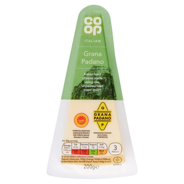 Co-op Grana Padano Italian Hard Cheese 170g