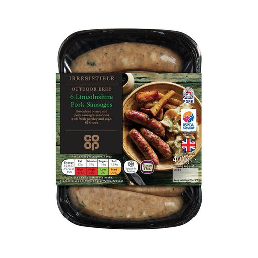 Co-op Irresistible Lincolnshire Sausages 400g