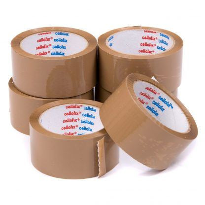 "Brown Parcel Tape 2"" 48mmx40m Pk 6"