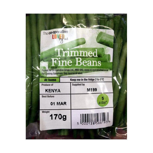 Co-op Trimmed Beans Pre Pack 170g