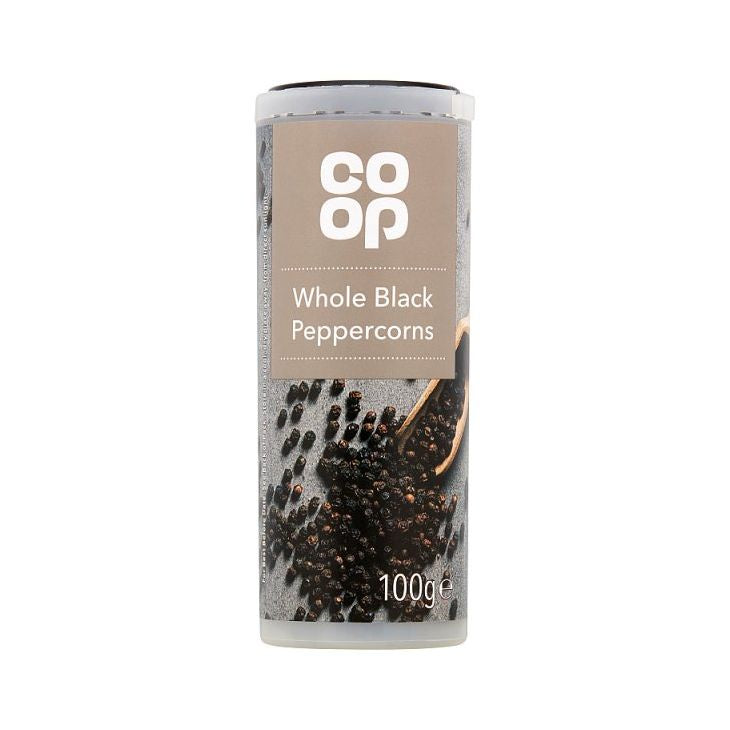 Co op whole Black Peppercorns 100g