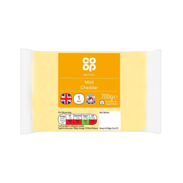 Co-op British Mild White Cheddar 700g