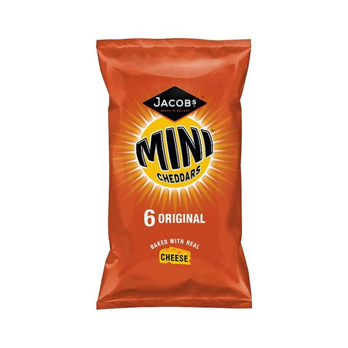 Jacob's Mini Cheddars Original 25g 6-Pack