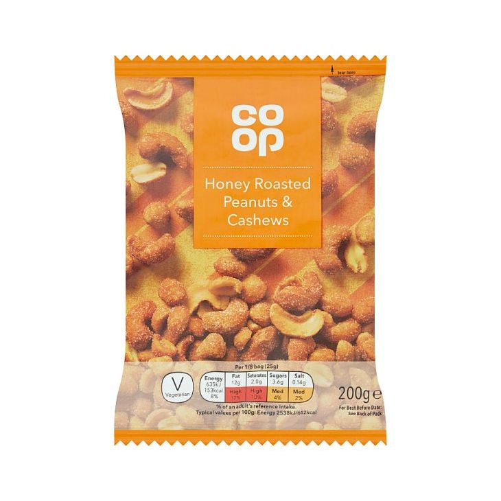 Co-op Honey Roast Peanuts & Cashews 200g
