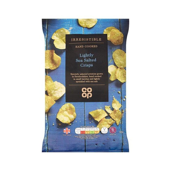 Co-op Irresistible Lightly Salted Crisps 150g