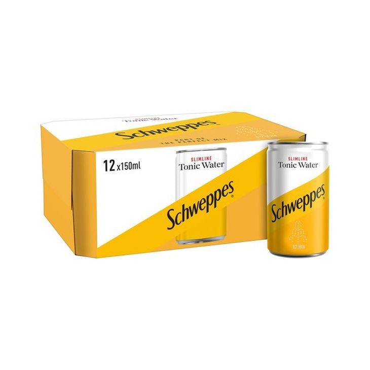 Schweppes Tonic Water Slimline Mini Can 12-Pack