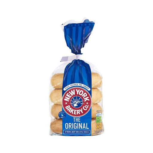 New York Plain Bagels 4Pk