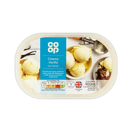 Co-op Vanilla Ice Cream 900ml