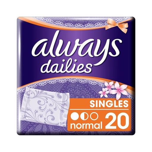 Always Dailies Singles Normal Fresh Panty Liners x 20