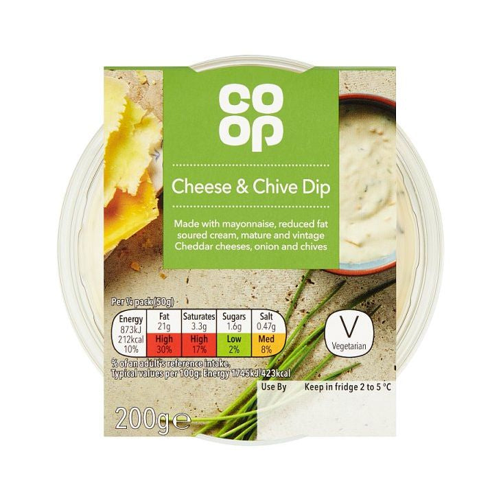 Co-op Cheese & Chive Dip 200g