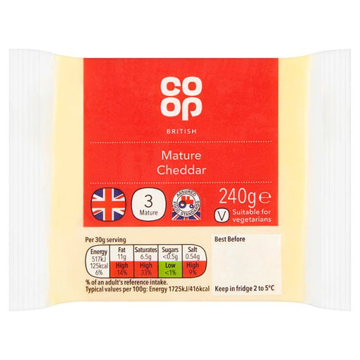 Co-op Mature White Cheddar 240g
