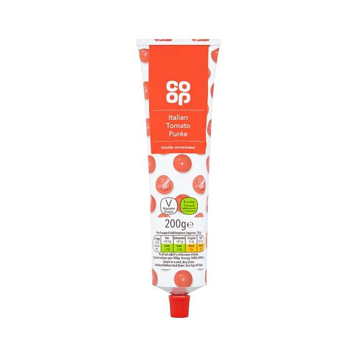 Co-op Double Concentrate Tomato Puree In A Tube
