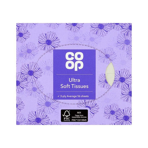 Co-op Cosmetic Tissue Cube 3 Ply 60-Pack