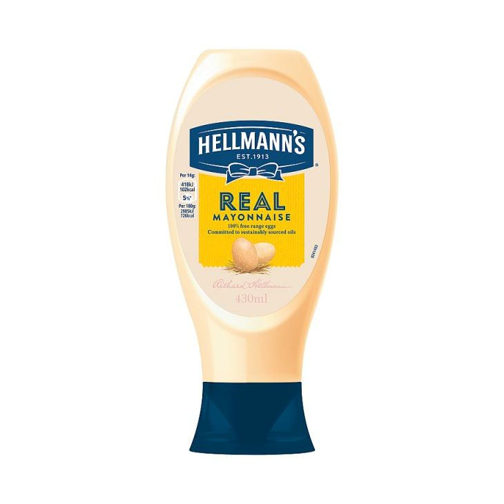 Hellmanns Real Squeezy Mayonnaise 430ml