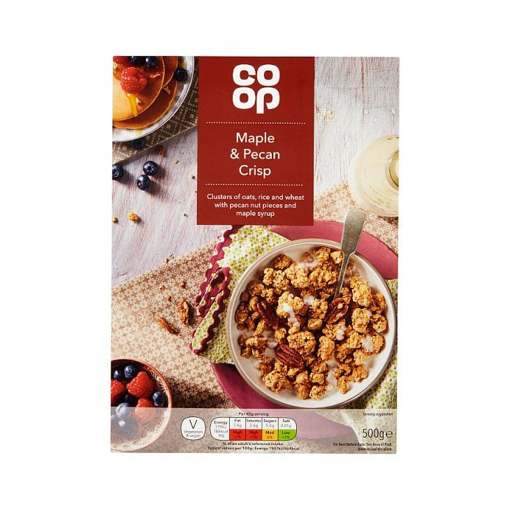 Co-op Maple & Pecan Crisp 500G