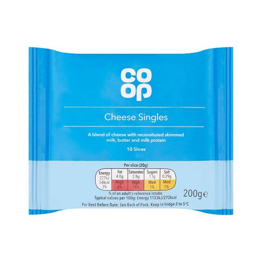 Co-op Cheese Singles 10-Pack 200g