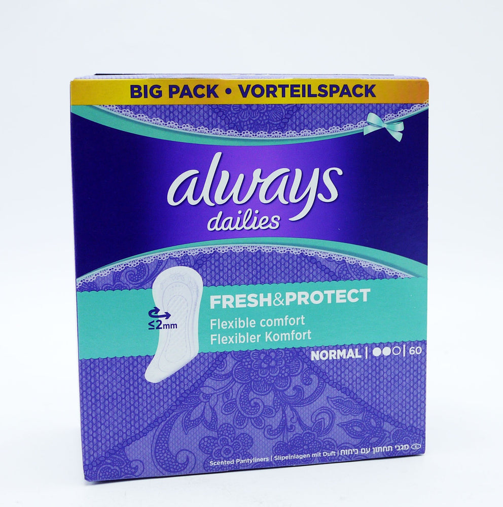 Always Pantiliners Normal 60-Pack