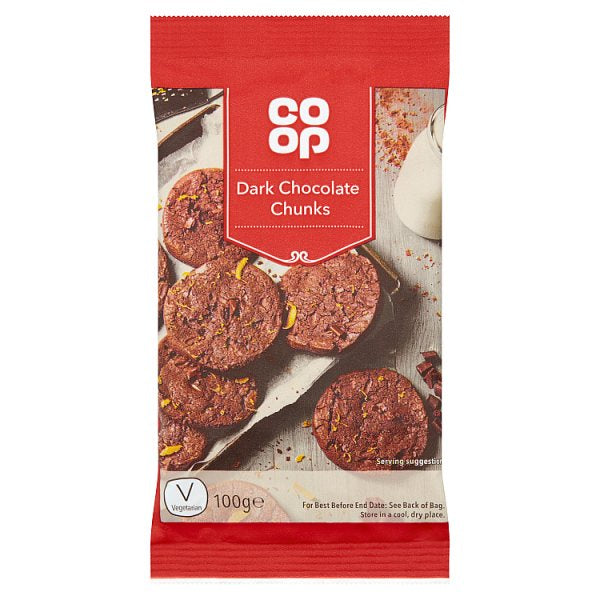 Co-op Dark Chocolate Chunks 100g
