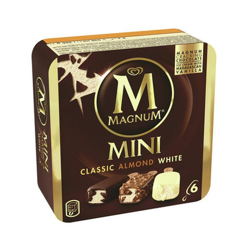 Walls Mini Magnum Classic/White/Almond 6-Pack
