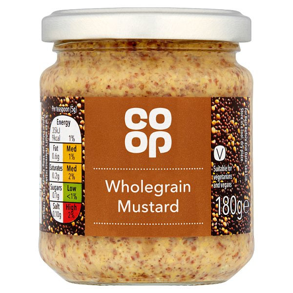 Co op Wholegrain Mustard 180g
