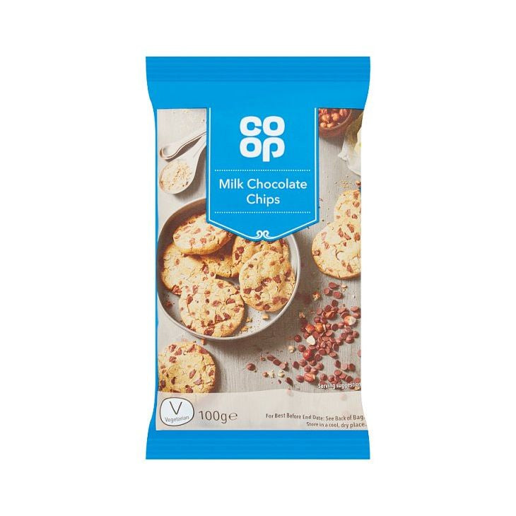 Co-op Milk Chocolate Chips 100g