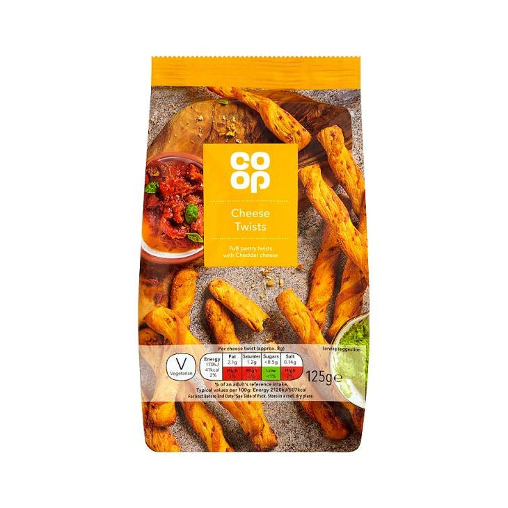 Co-op Cheese Twists 125g