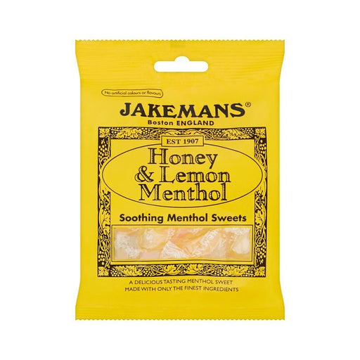 Jakemans Honey & Lemon Menthol Sweets 100g