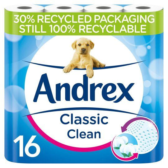 Andrex Classic Clean Toilet Roll 16pk