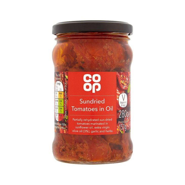Co-op Sun Dried Tomatoes in Sunflower Oil & Extra Virgin Oil 280g