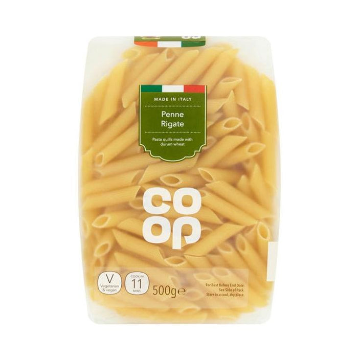 Co-op Penne Rigate Pasta Quills 500g