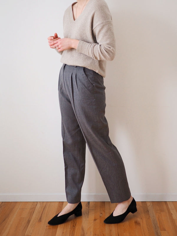 Vintage Grey Straight Leg Wool Pants
