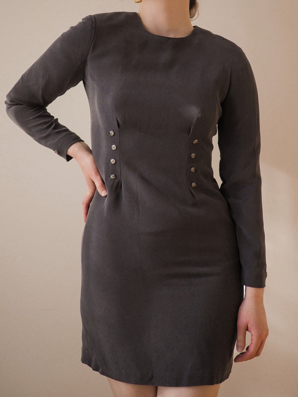 Vintage Silk Sheath Dress