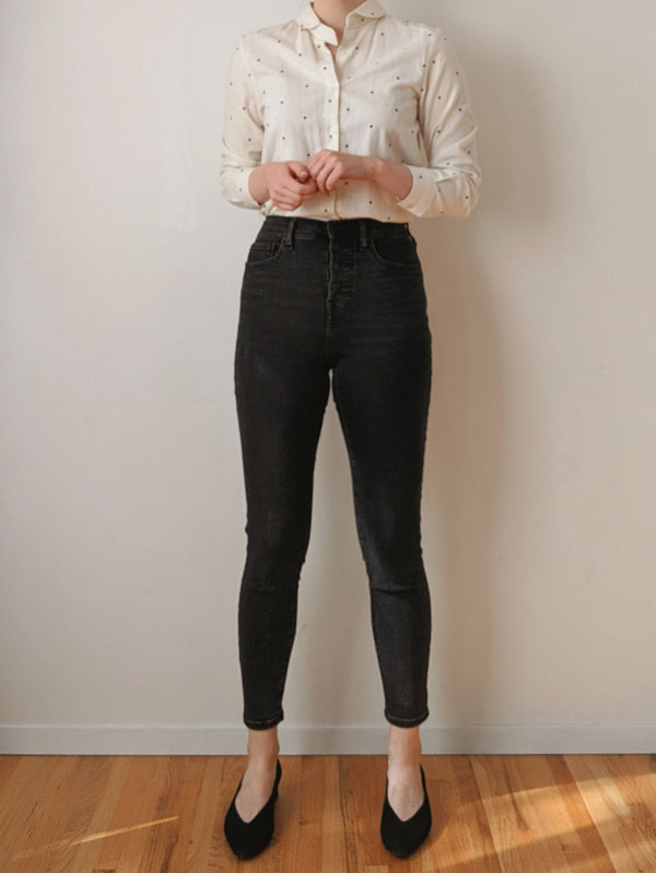 Everlane Authentic Stretch Button Fly Denim (27)