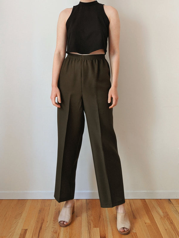 Vintage Olive Green Easy Pants (L)