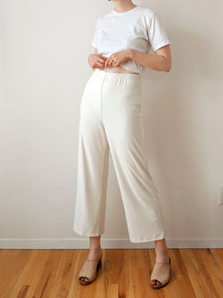 Vintage Bone Wide Leg Pants (M)