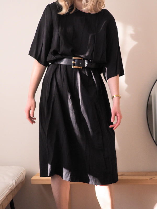 Vintage Black T-Shirt Dress