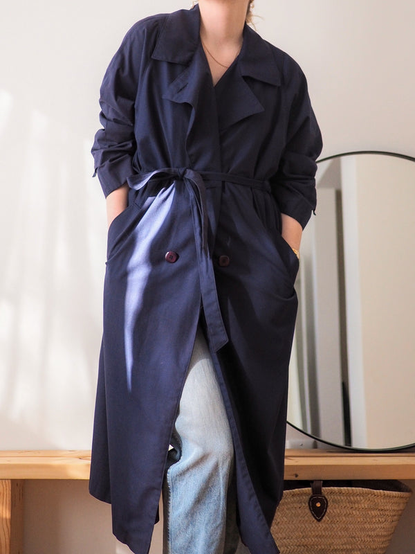 Vintage Navy Trench Coat