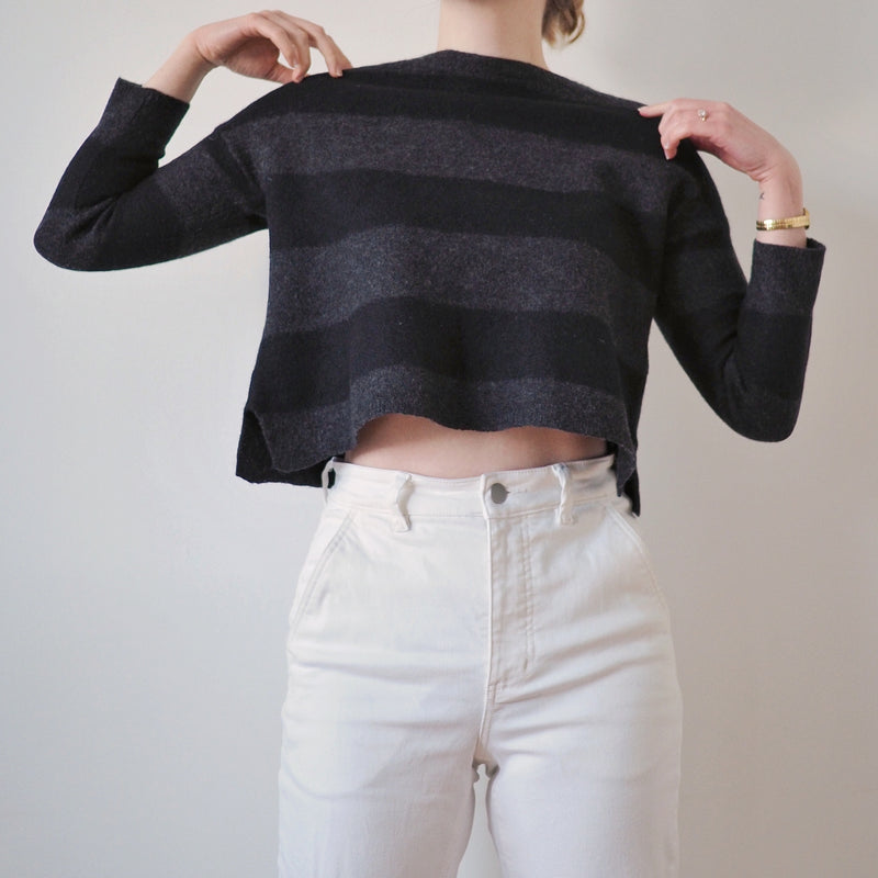 Eileen Fisher Striped Wool Sweater