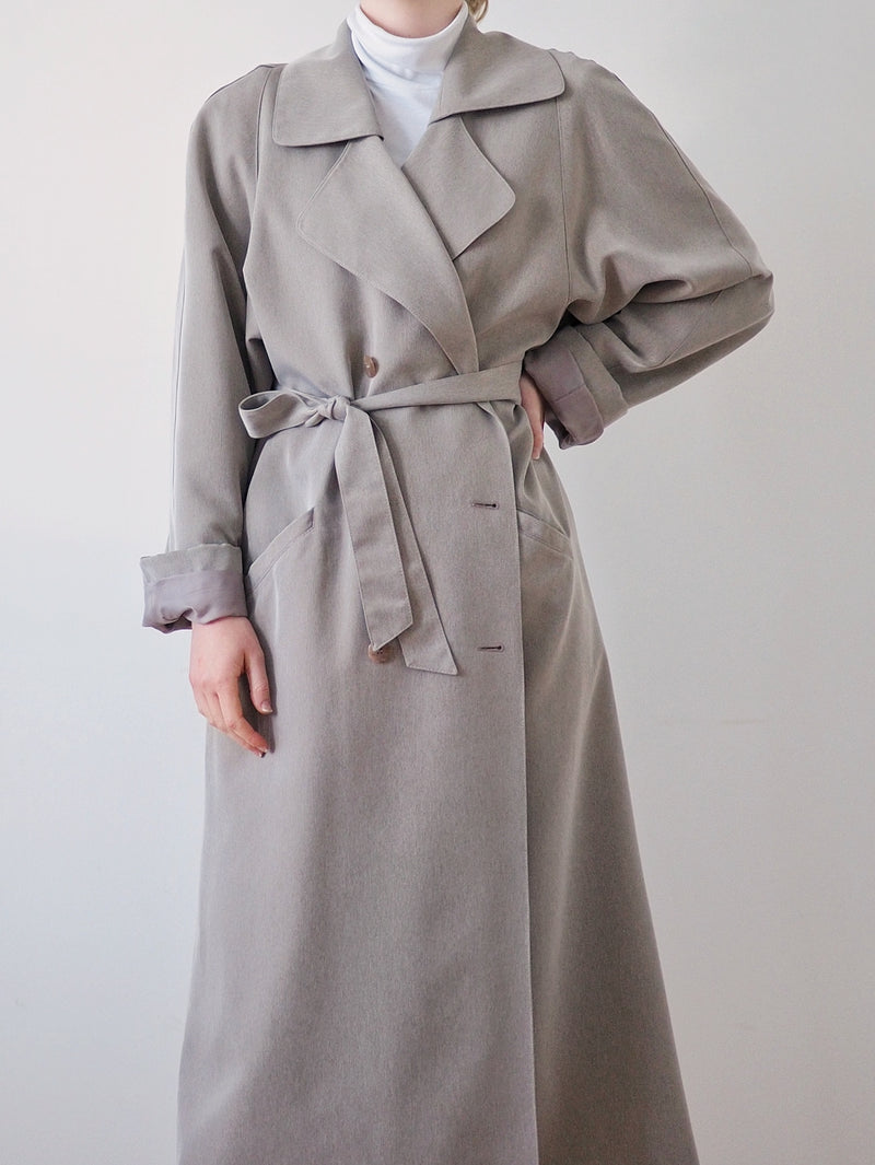 Vintage Light Grey Trench Coat