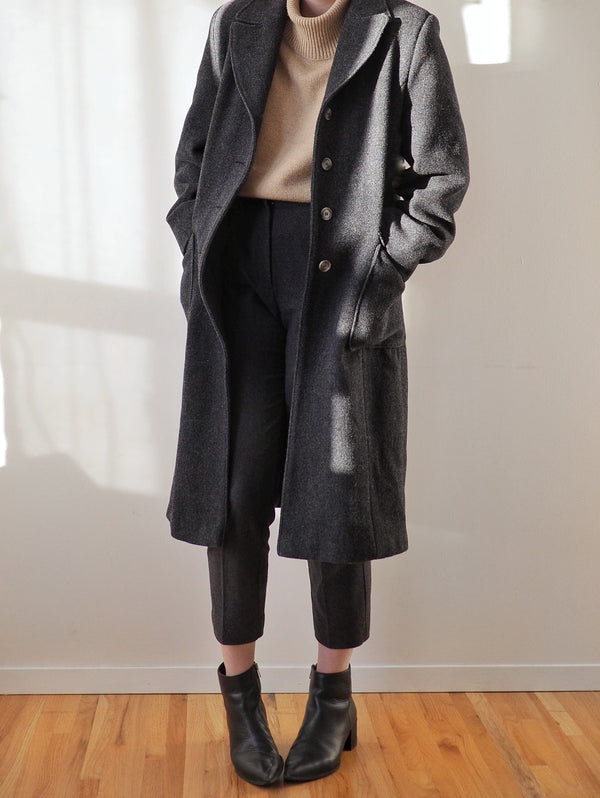 Vintage Dark Grey Wool Coat