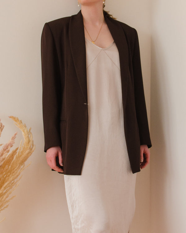 Vintage Dark Brown Blazer
