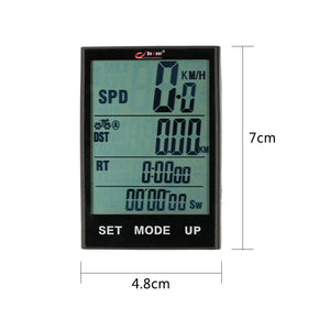 Multi Function Wireless Bike Cycling Computer Water Resistant Bicycle Speedometer Odometer with Extra Large LCD
