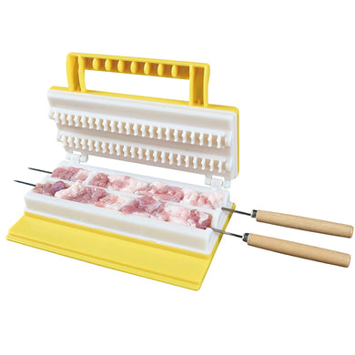 Double Row BBQ Meat Skewer Machine Meat