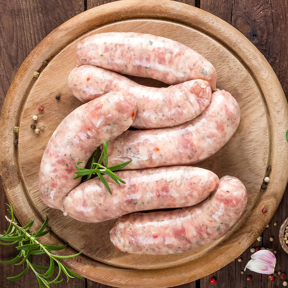 Pork & Cheese Sausages