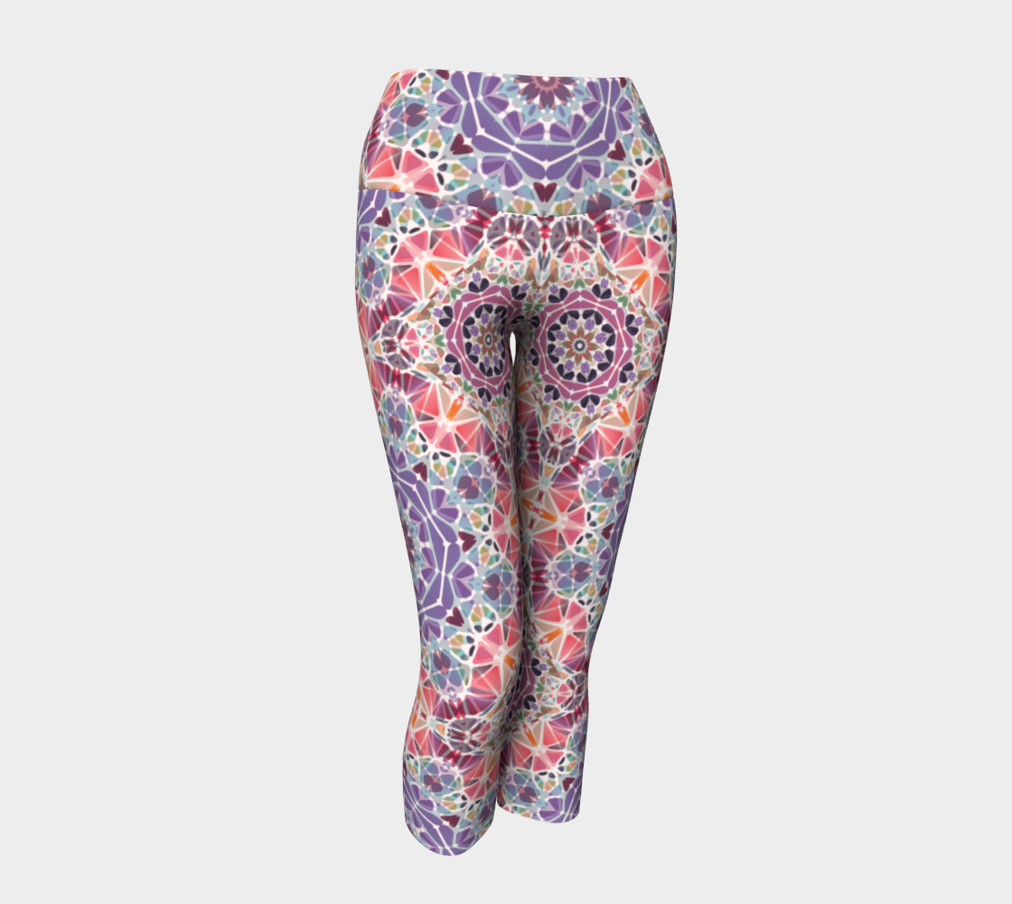 Purple and Pink Kaleidoscope Yoga Capris