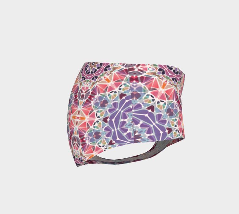 Purple and Pink Kaleidoscope Mini Shorts