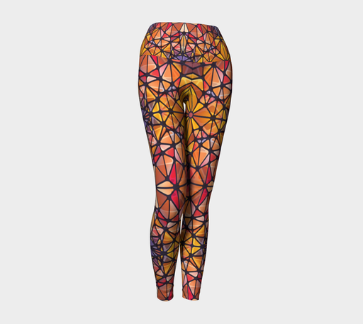 Amber Kaleidoscope Yoga Leggings