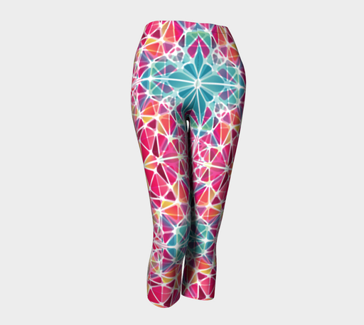 Pink and Blue Kaleidoscope Capris